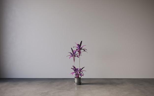 テーブルの上の花瓶の静物ライラックの花3dイラストcgレンダリング
