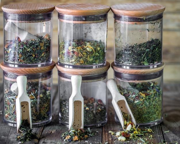 Still life of loose tea