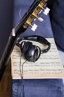 Still life of music equipment