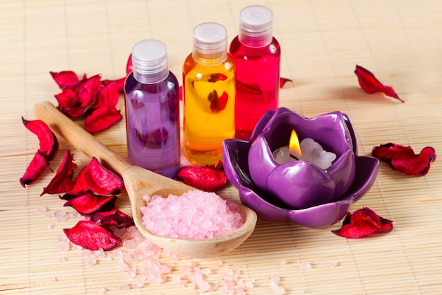 Still life of objects for spa treatments