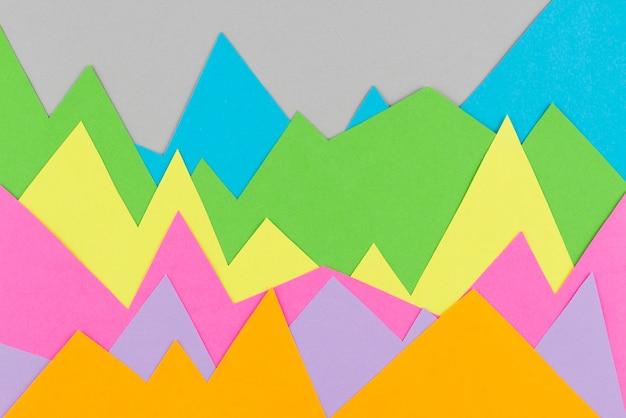 정물 종이 그래픽 배열 프리미엄 사진
