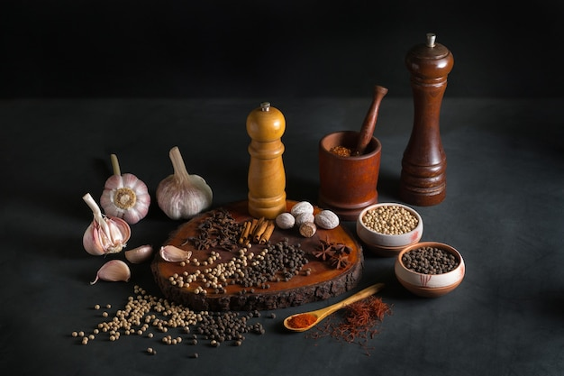 Still life with different kind of spices