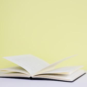 Still life with literature concept