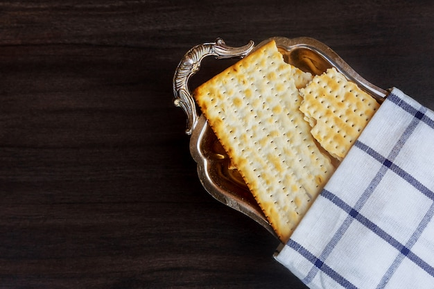 Still-life with matzoh jewish passover bread