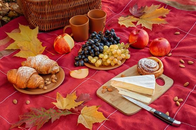 Still life with picnic autumn mood.