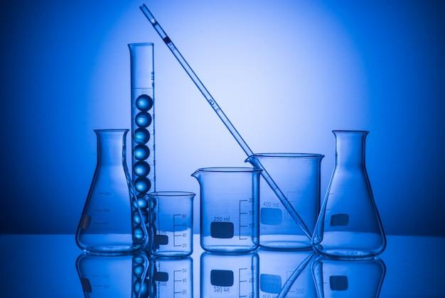 Still life with scientific glassware