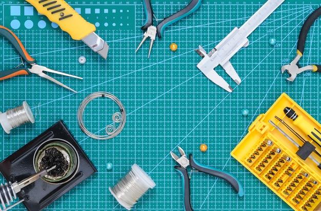 Still life with tools.
