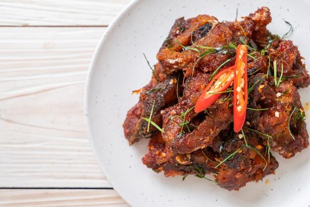 Stir fried catfish with chili paste