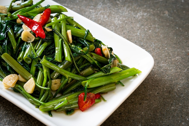 Stir-fried chinese morning glory or water spinach