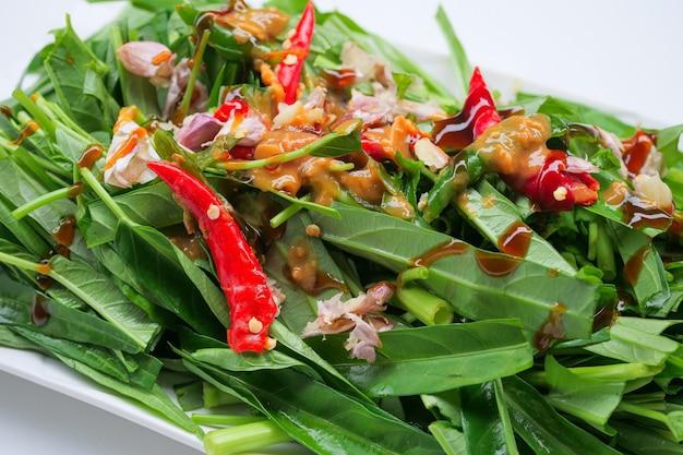 Stir-fried chinese morning glory