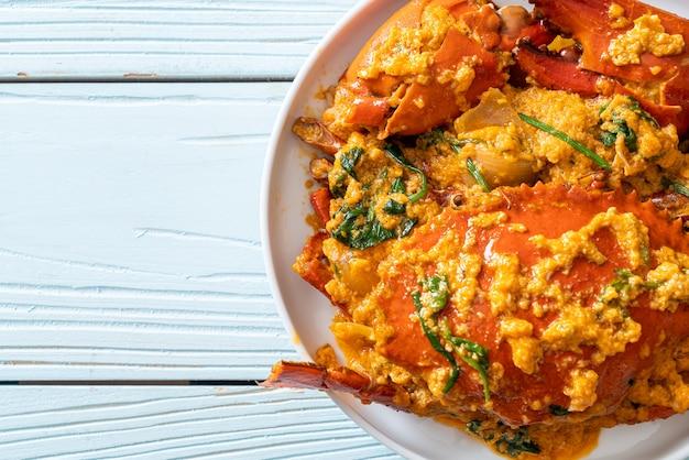 Stir fried crab with curry powder