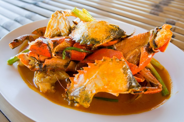Stir-fried crab with yellow curry powder