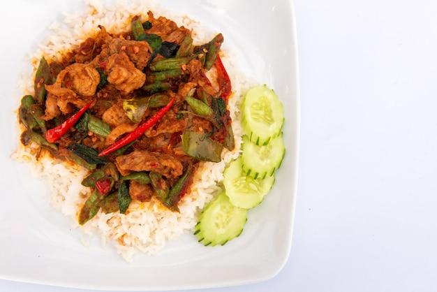 豚肉の唐辛子炒めご飯