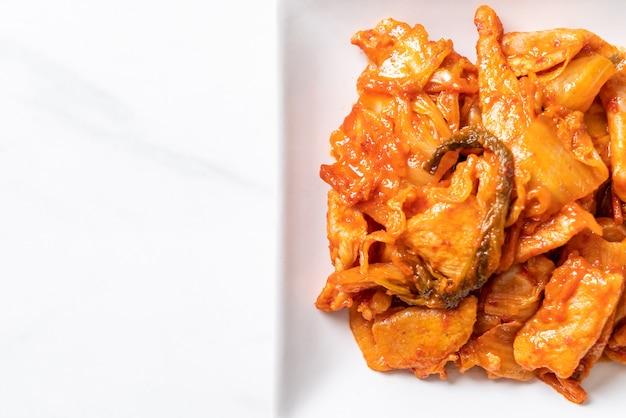 Жареная свинина с кимчи по-корейски