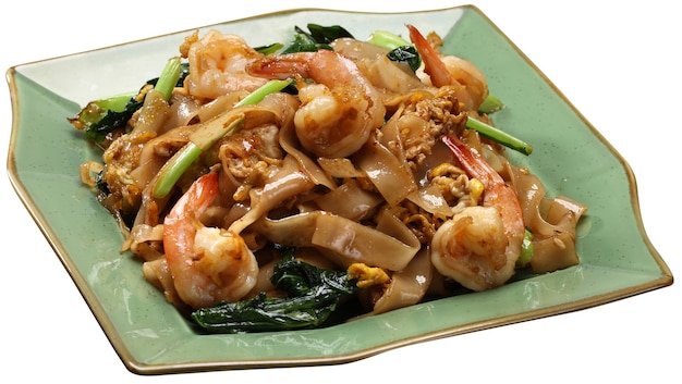 Stir fried rice noodle with soy sauce