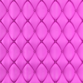 Stitched upholstery leather pink background with buttons