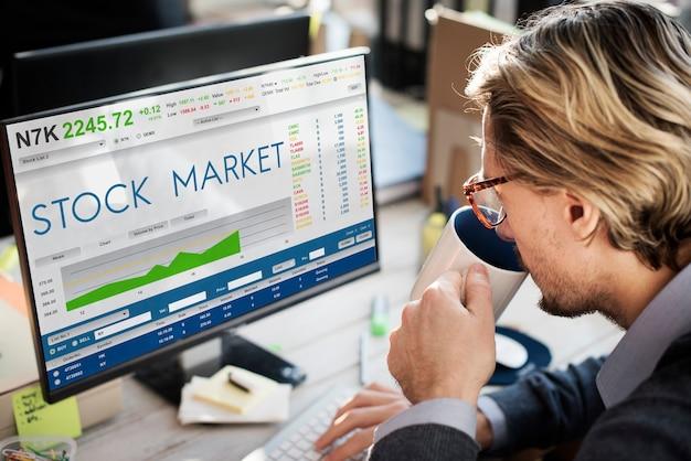 Borsa trading forex finanza concept grafico