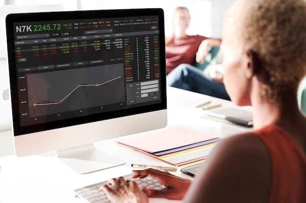 証券取引所取引外国為替金融グラフィックコンセプト 無料写真