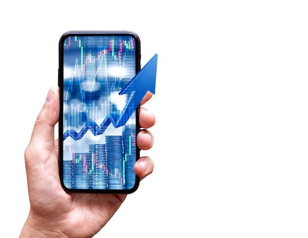 Stock market application in mobile phone