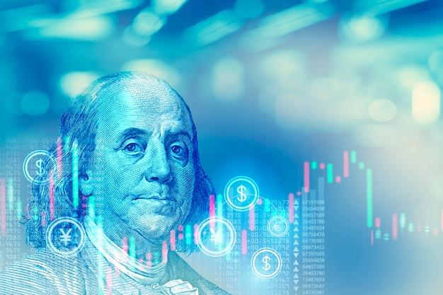 Фондовый рынок фон концепция
