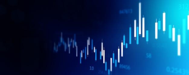 주식 시장 비즈니스 기술 통신 개념 배경