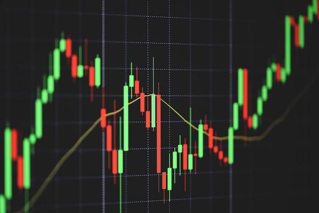株式市場デジタルグラフチャートビジネス証券取引所取引分析投資金融