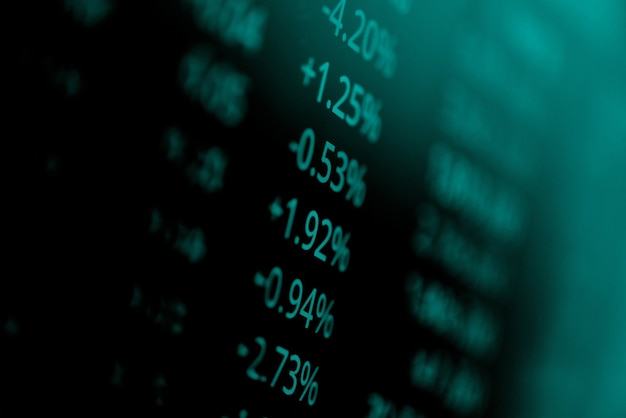 Stock market digital graph chart business stock exchange trading analysis investment financial
