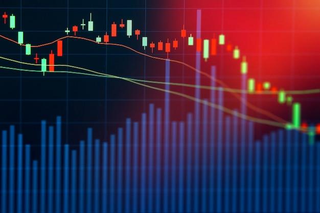 Stock market on display