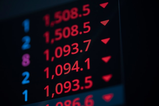 Stock market exchange graph price