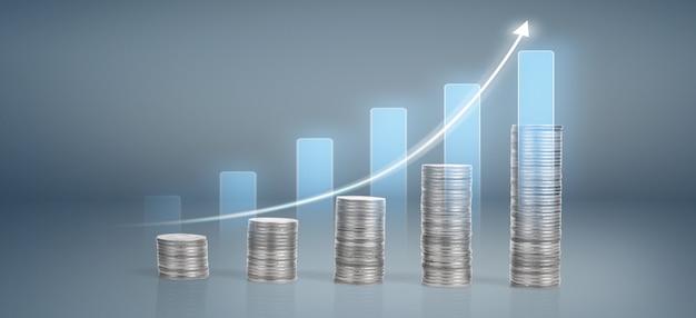 金融投資の概念に適した株式市場の外国為替取引のグラフローソク足チャート