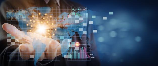 График фондового рынка или форекс и свечной график, подходящий для концепции финансовых инвестиций