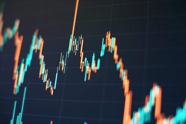 График фондовой биржи или торговли на форексе в графической концепции, подходящий для финансовых инвестиций или бизнес-идеи экономических тенденций и всего художественного дизайна.