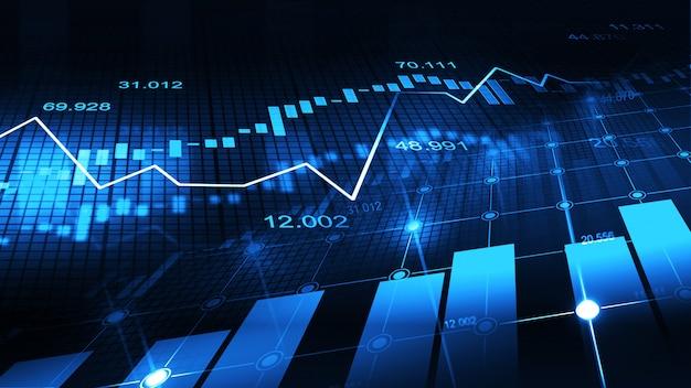 그래픽 개념의 주식 시장 또는 외환 거래 그래프