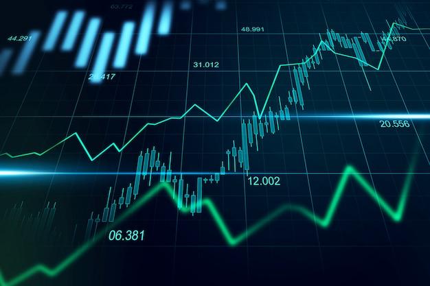 График торговли на фондовом рынке или рынке форекс в графической концепции