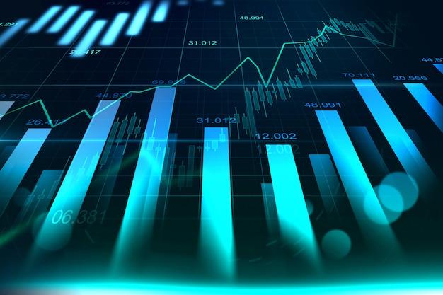 График рынка акций или форекс в графике