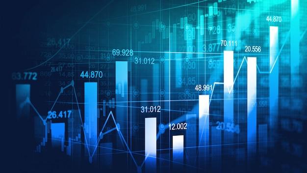 株式市場または外国為替取引グラフ Premium写真