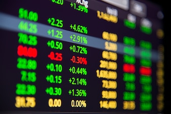 Stock or forex chart and data market exchange