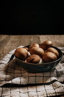 스톡 포토-녹색, 표고 버섯