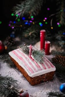 Столкнувшись в заснеженном новогоднем лесу атмосфера нового года и рождества