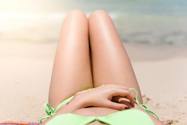 Stomach girl people sea skin