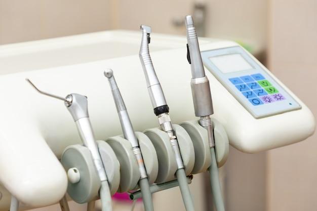 Stomatological instruments, dental tools close up