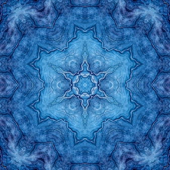 Stone agate lapis lazuli blue mineral, marine watercolor marble, geometric cut repeating pattern
