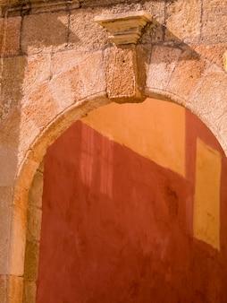 Stone archway in rhodes greece