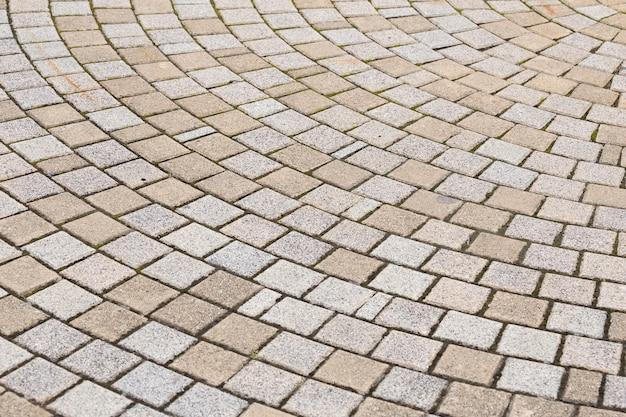 Stone block paving