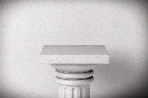 콘크리트 배경에 스톤 클래식 그리스 기둥