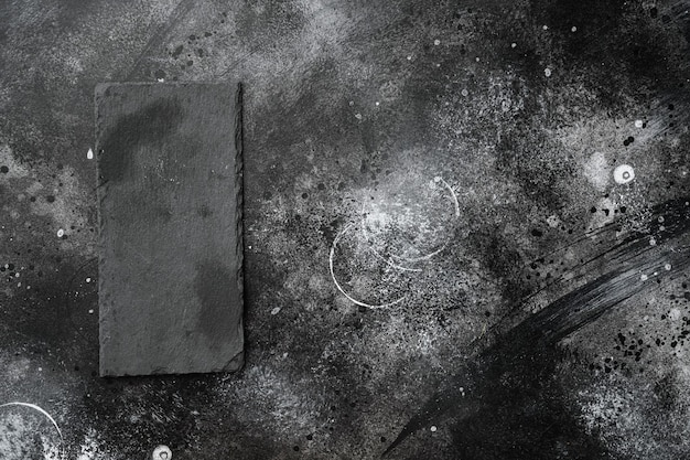 텍스트 또는 음식을 위한 복사 공간이 있는 텍스트 또는 음식을 위한 복사 공간이 있는 석재 커팅 보드 빈 세트