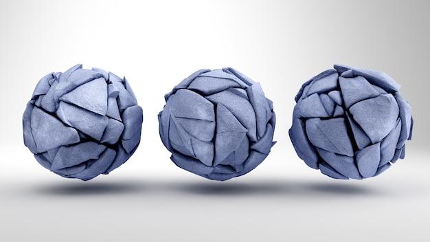 グレーブルー色の石の形。 3dイラストレーション、3dビジュアライゼーション..3dイラストレーション。 3dレンダリング、3dイラスト。