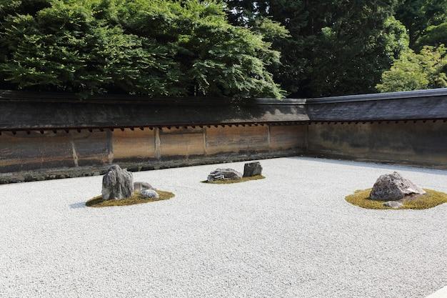 Каменные сады в киото, япония