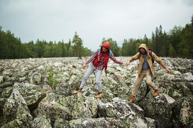 Stone hiking