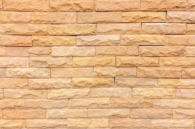 Stone orange brick stick in the wall